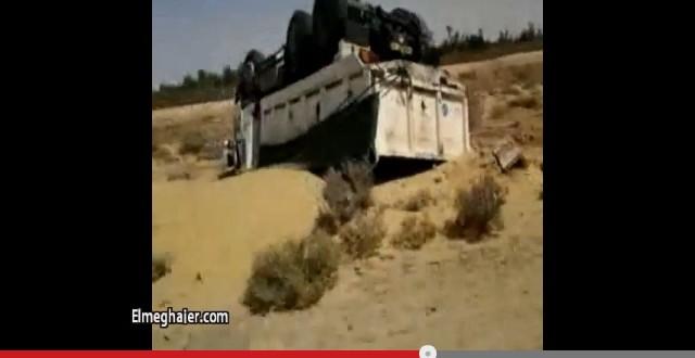 فيديو إنقلاب شاحنة ، اليوم على الطريق الوطني 03