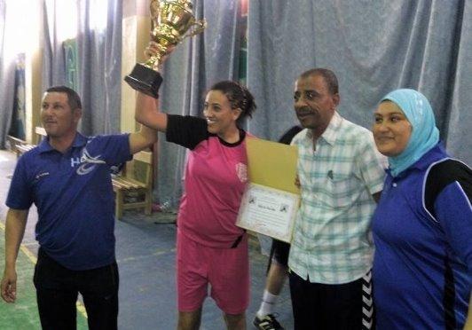 تتويج النادي الرياضي لفتياة المغير بالبطولة الجهوية لكرة اليد