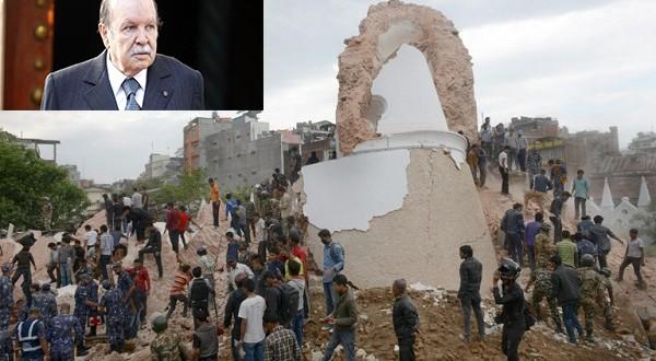 بوتفليقة يقدم للنيبال مساعدة بقيمة مليون دولار نتيجة الزلزال المدمر